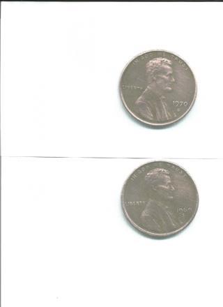 4 Old Pennies