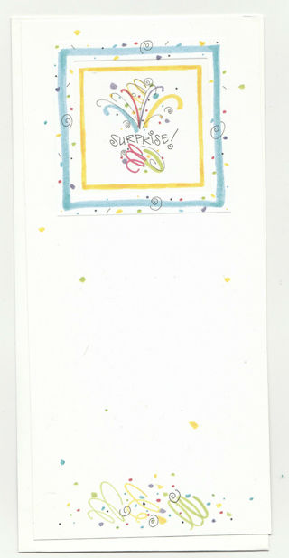Note Card Unused With Envelope Single sided