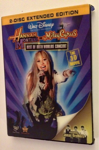 """NEW 3D Hannah Montana & Miley Cyrus """"Best of Both Worlds Concert"""" Movie WITH 4 PAIRS OF 3D GLASSES!!"""