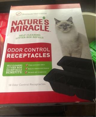 Odor control receptacles