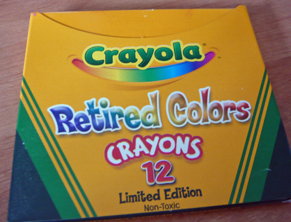 free crayola retired colors limited edition box other
