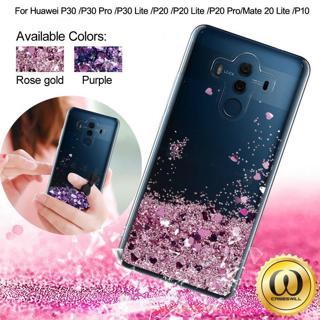 For Huawei Mate 20 Lite, P20 Lite, P10 Glitter Liquid Quicksand TPU Case Cover