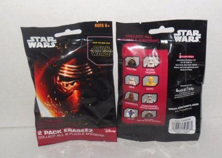 Free: New Star Wars Eraseez 2 Puzzle Erasers Blind Bag - Other