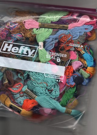 Large Bag of Embroidery Floss...different colors, lots of full skeins, some partials free shipping