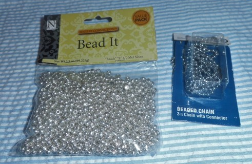 Silver Beads and Silver Beaded Chain