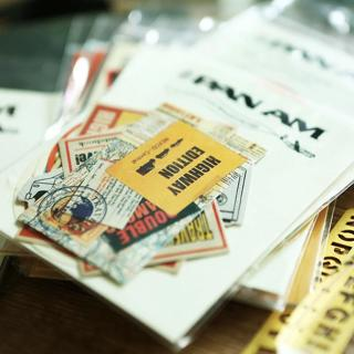 Vintage aviation/High speed/Hawaii/Hongkong Decorative Anniversary travel Sticker DIY Scrapbooking
