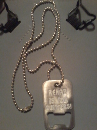 Rehab is for quiters necklace!