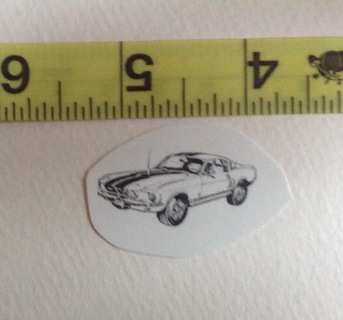 1 Fired on Ceramic Car Decal