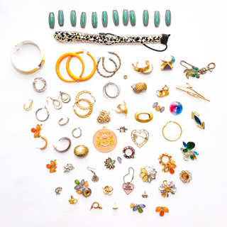 1+ Pounds of Costume Jewelry Findings Destash DIY