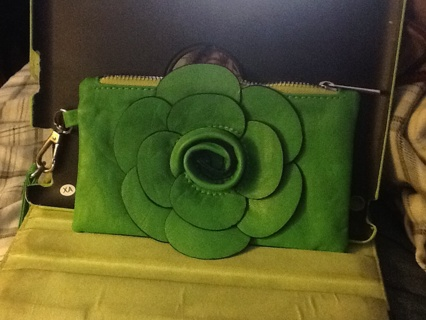 Nice little green makeup purse,or whatever.
