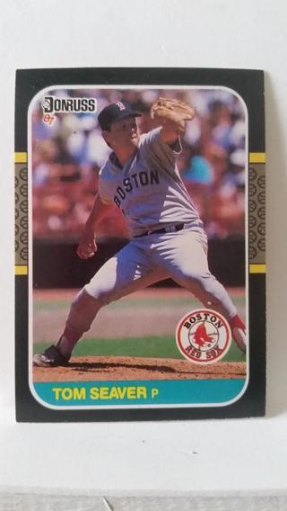 1987 Donruss TOM SEAVER Baseball Card #375 Boston Red Sox MINT