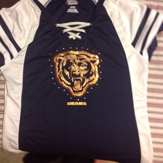 Chicago Bears ladies top in size M