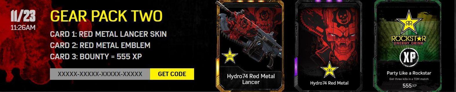 Gears of War 4 xbox Unlockable content code
