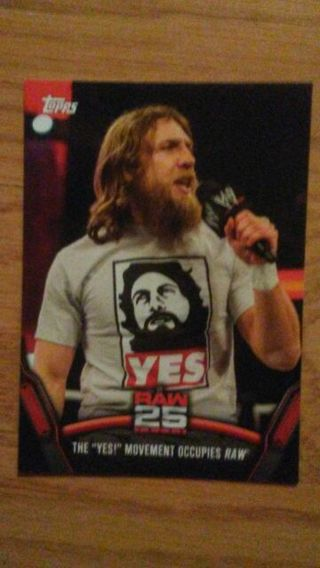 WWE 2018 Now Then Forever Raw 25 Daniel Bryan Card