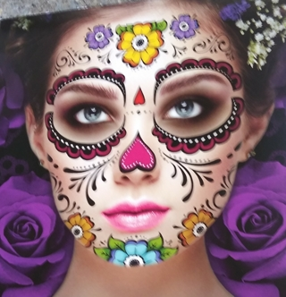 HALLOWEEN FACE TATTOOS 2 SHEETS LOT 10