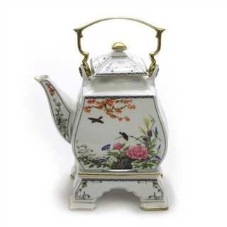 24k Trim Franklin Mint 1986 Oriental Tea Pot Stand