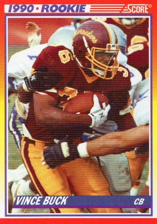 Free 1990 Score Football Rookie Card 637 Vince Buck