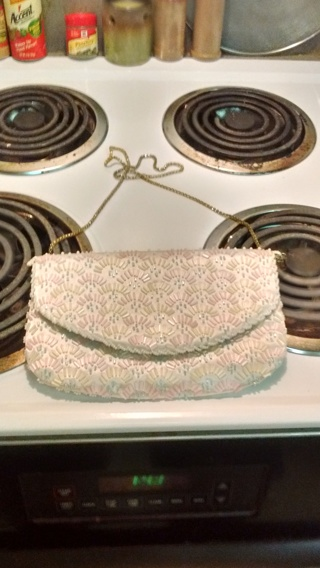Very Nice Beaded Sequins Handbag