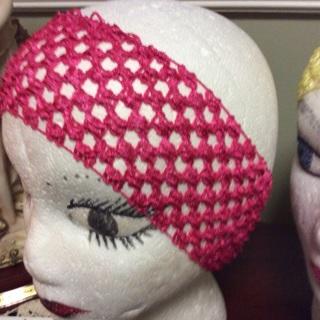 #43 Three Crochet Stretchable Headbands .