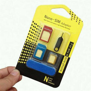 5in1 Popular Universal Nano SIM Card to Micro Standard Adapter Sets for Phone