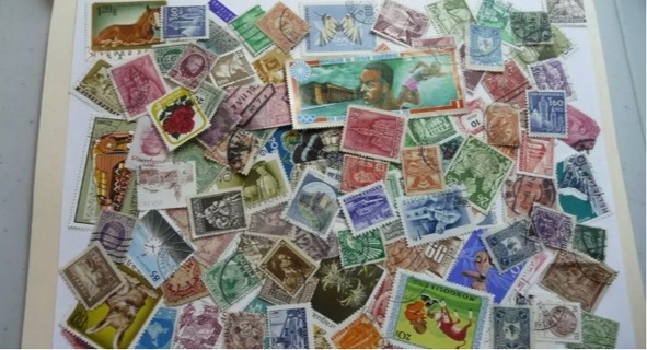 World stamps 100 stamps