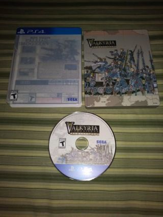PS4 VALKYRIA CHRONICLES REMASTERED...METAL CASE...MINT CONDITION...FREE SHIPPING WITH TRACKING
