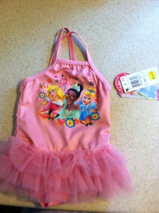 New with tags Princess Bathing Suit...size 12 months