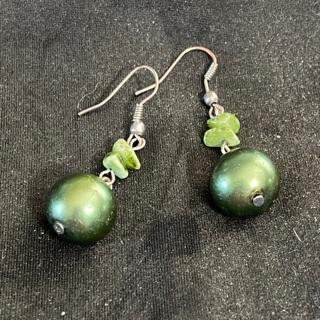 Bead and Stone Earrings