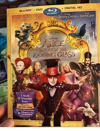 Alice through the looking glass blu ray/dvd combo