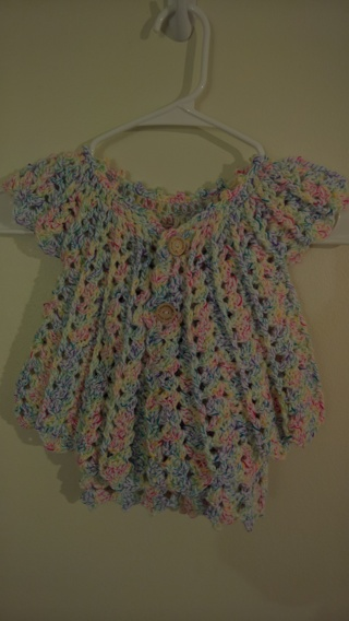 crochet baby cardigan & dress