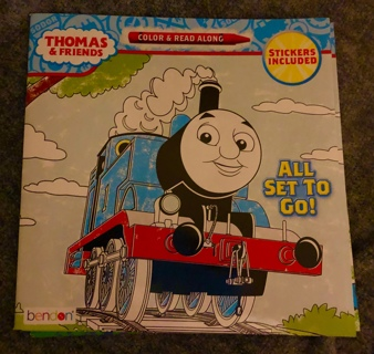 "Brand New THOMAS AND FRIENDS Coloring Read Along and Sticker Book. Paperback 8"" x 8""."