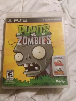 Plants VS. Zombies PlayStation 3 PS3 game