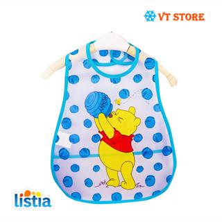 Adjustable Baby Bibs EVA Plastic Waterproof Lunch Feeding Bibs Baby Cartoon Feeding Cloth Children