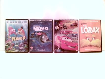Kids DVD's Lot of (4)