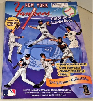 2008 MLB NY Yankees coloring & activity book - 62 pages