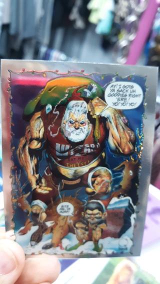 HARD 2 FIND: WIZARD MAGAZINE CHRISTMAS EVE IN BROOKLYN QUESADA/PALMIOTTI CHROMIUM PROMO CARD