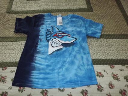 BACK TO SCHOOL SALE Tye Dye Long Beach Shark Boy's Shirt *NEW* Size Small