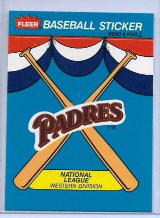 1989 Fleer Team Stickers #37 San Diego Padres/Logo