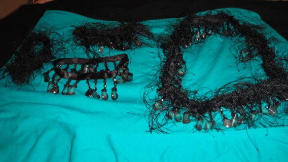 hand made necklace bracelet and anklet set