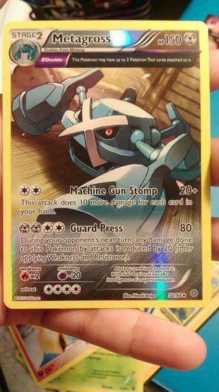 Free Pokemon Card Metagross Reverse Holo Half Art Ancient Origins Trading Card Games Listia Com Auctions For Free Stuff
