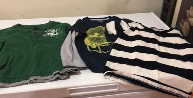 3 little boys shirts size 4
