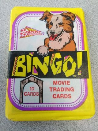 """Sealed Pack - 1991 """"Bingo"""" Movie Collection Trading Cards"""