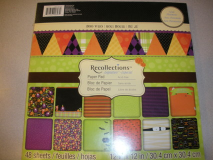 Free Halloween Boo Who 12x12 Scrapbooking Paper Pad 48 Sheets