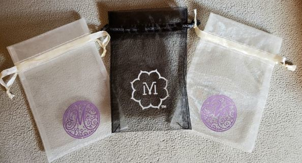 Lot of (3) Organza Storage Gift Bags
