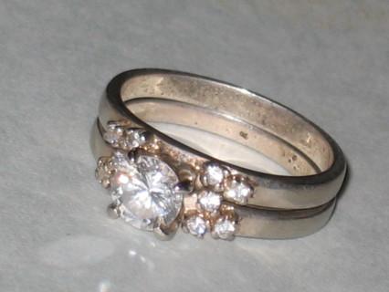 vintage sterling rings