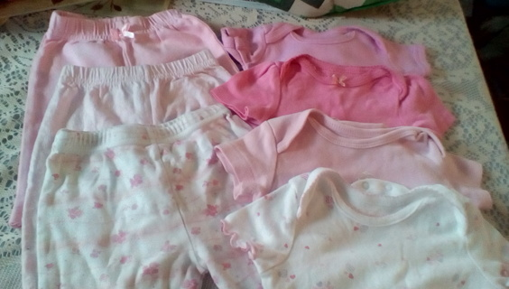 Infant Girls Size (0-3)  Months Clothing: GUC