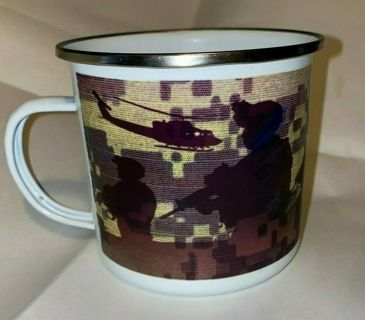 US ARMY Beautiful Metal 15 oz Camping Mug