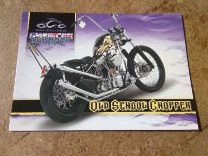 "2004 American Chopper ""Old School Chopper"" Collection Card #12"