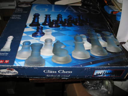 Brand New Sealed Glass CHESS SET