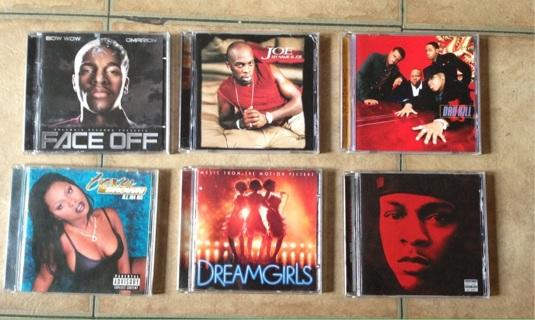 CDs: Dru Hill, Joe, Bow Wow, Omarion, Foxy Brown, Dream Girls Soundtrack
